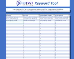 clickflut-keyword-tool